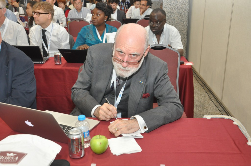 Google's Vint Cerf taking notes during The IGFSA Constituent General Assembly September 1 2014 Istanbul, Turkey